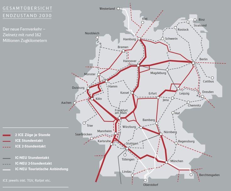 DB ICE netz Infografik, Neue wege, Eisenbahn