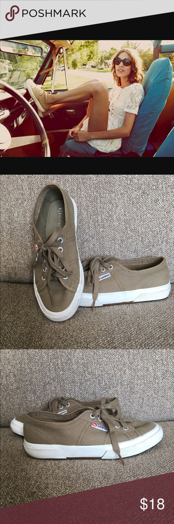 Superga sneakers iceberg green Adorable superga sneakers in size 37.5. Super cute to pair with a dress or jeans Superga Shoes Sneakers