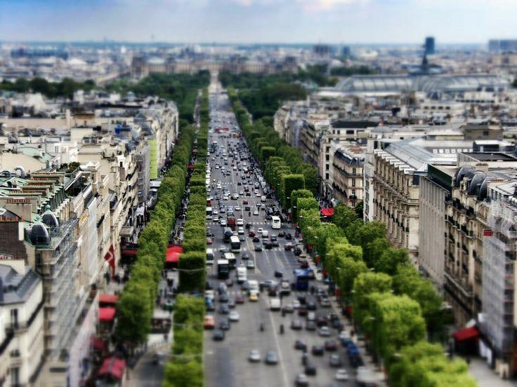 Tilt Shift Paris Series / Champs-Élysées by just go on 500px