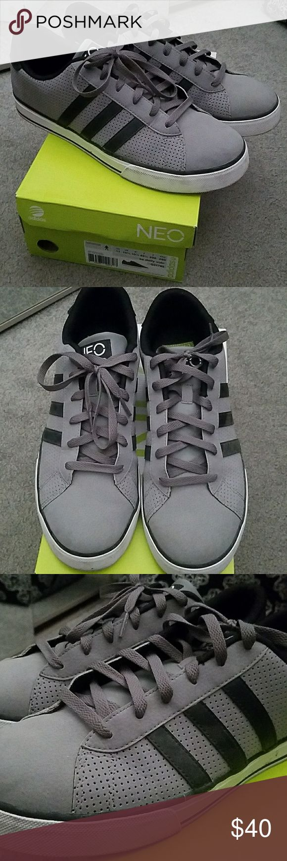 Men's Neo Adidas Shoes Perfect condition.  Shoes were only worn once at our wedding.  Some scuffs on trim as seen in pictures. Ortholite insoles. Comes with original box. adidas Shoes