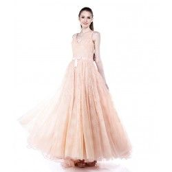 Andreas Odang Blush Ball Gown with Sash.