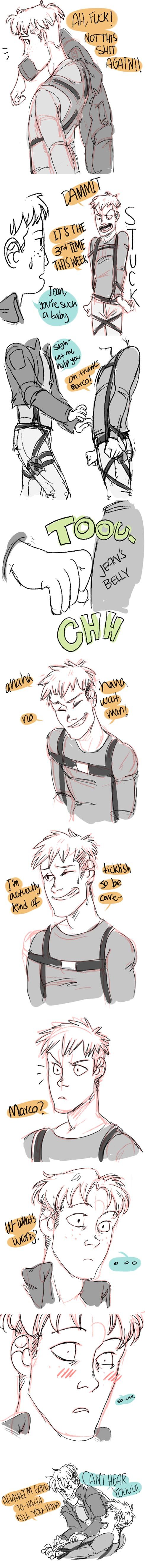 Attack on Titan ~~ When you get yourself all tied up, well.... :: Jean and Marco