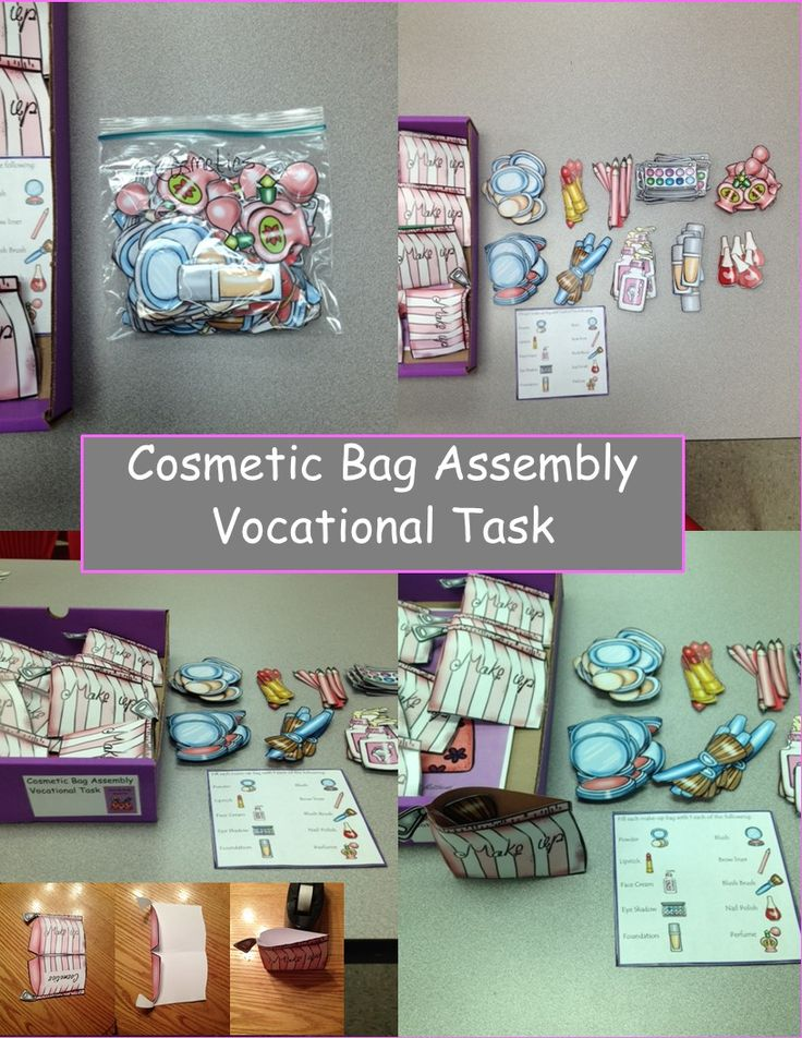 Vocational or dramatic play task for the classroom