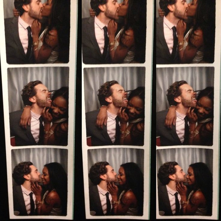 Fun Love :-)  |Photo booth love #wmbw #bwwm