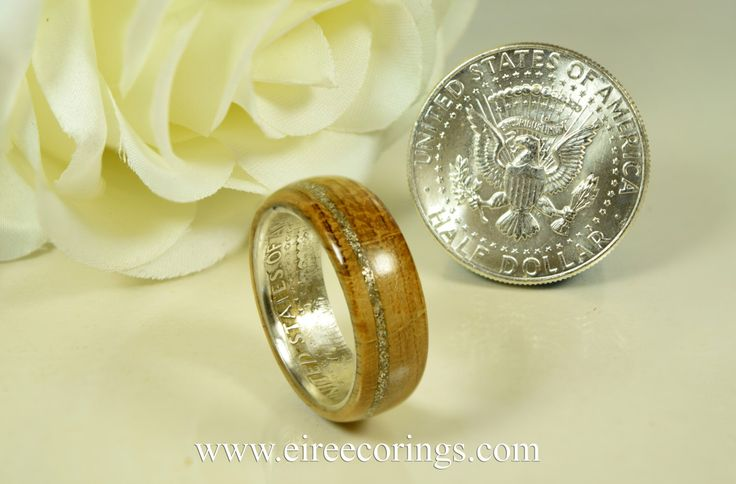 Jameson whisky barrel and silver dollar wedding ring by EireEcoRings on Etsy https://www.etsy.com/listing/229458377/jameson-whisky-barrel-and-silver-dollar