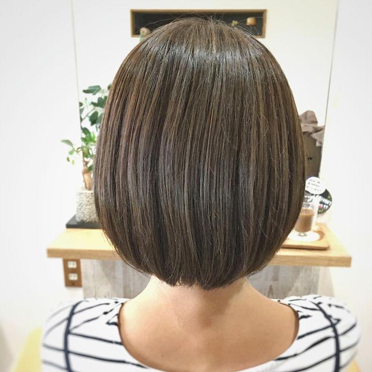 手入れが楽な重めボブ♪ #カラーエステ #オリーブブラウン #髪質改善カラー #カラーおすすめ #ボブ #重めボブ #内巻きボブ #手入れが楽なスタイル #まとまり #ツヤのある髪 #ブローいらず #宇都宮市美容室 #宇都宮市今宮美容室 #5cochi #ゴコチ
