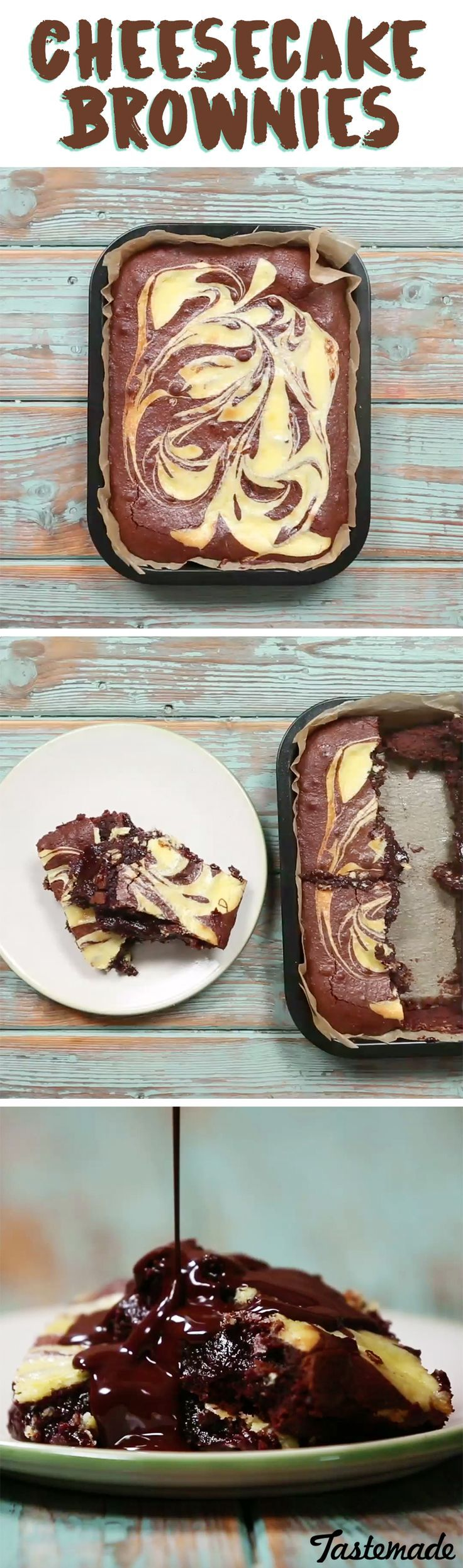 Chocolate cheesecake just can't compare to these warm, fudgy cream cheese brownies.