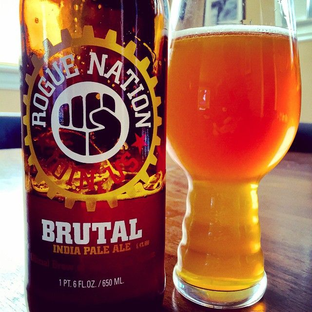 Rogue Ales Brutal IPA & IPA glass from @twelvizm.