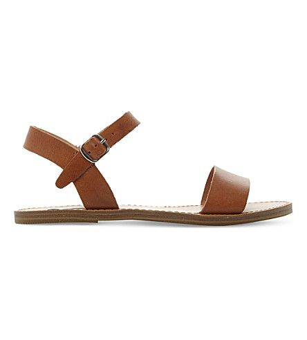 Kondi faux-leather sandals. Flat SandalsLeather SandalsSteve Madden