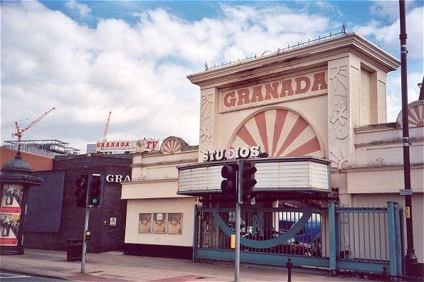 Granada TV, Manchester. The Studio Tour entrance