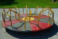 Antique/Vintage Galvanized Steel Merry-Go-Round. You don't see these anymore! Share your memories!