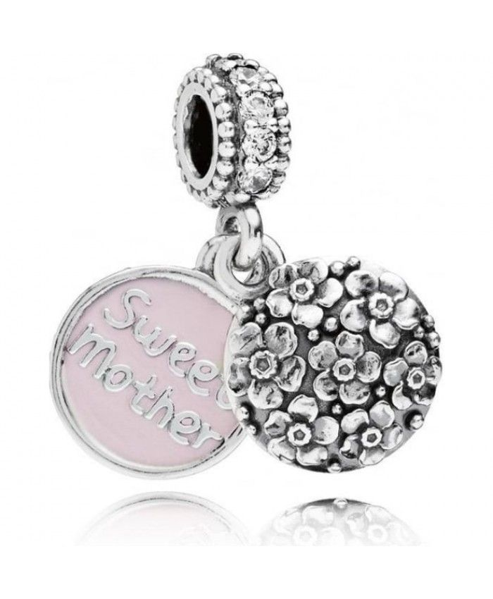 PANDORA Sweet Mother Pendant Charm 791285CZ Mother's Day gives mother the best gift.