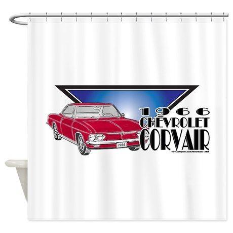 1966 Chevrolet Corvair Shower Curtain on CafePress.com