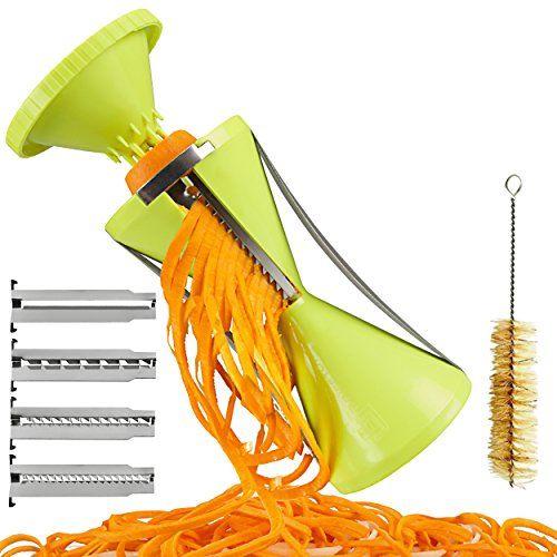 Brieftons NextGen Spiralizer: 4-Blade Vegetable Spiral Slicer, 150% Bigger, 50% Less Wastage, Perfect Veggie Spaghetti/Pasta Maker Brieftons http://www.amazon.com/dp/B00PQKB2NI/ref=cm_sw_r_pi_dp_LHLzwb1CPK12X