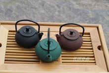 Mini pote pote pequeño 0.05l tetera de hierro fundido olla de hierro fundido olla de hierro té mascota(China (Mainland))