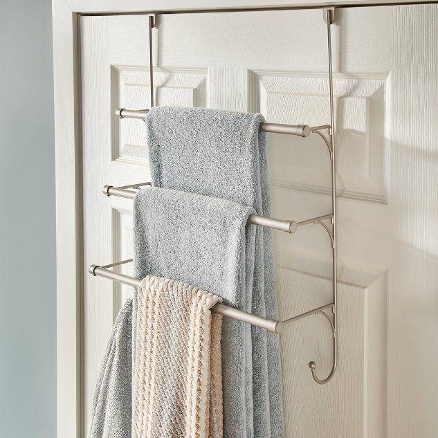 Over The Door Towel Rack Small Bathroom Towel Storage College Bathroom
