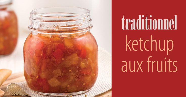 Ce ketchup traditionnel peut se faire ne petite ou en grande quantité. Et dans un joli petit pot, il fait un merveilleux cadeau qui remonte le moral garanti! Vous fer