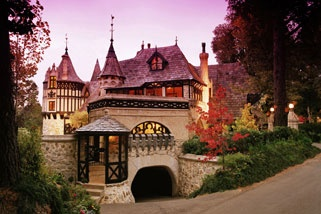 Love. Romance. Pink skies. Dragons? No... No dragons. But you really can stay here. It's called 'Romantic Queen of the Castle Escape for 2' and is near Adelaide. Not just the stuff fairytales are made of! Want.