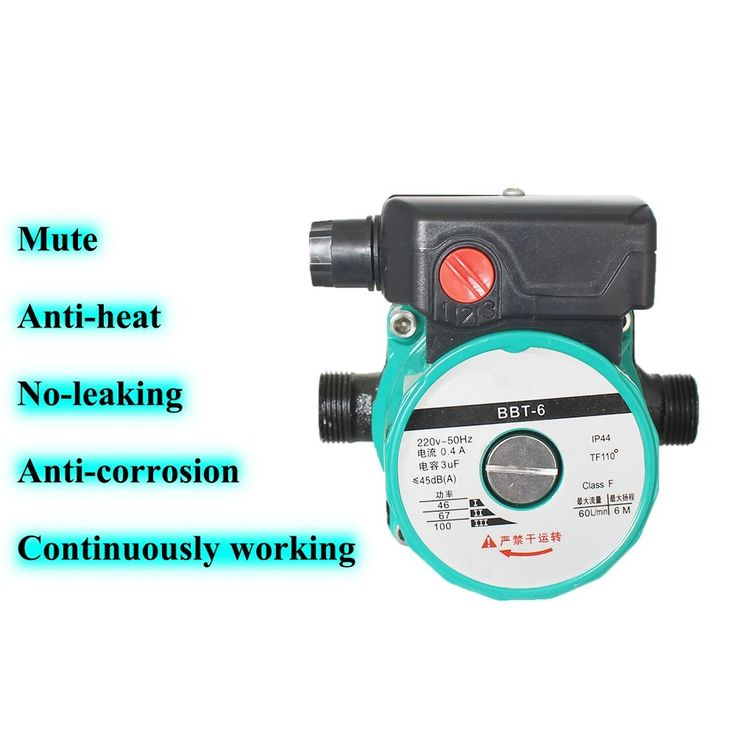 100W Household heating hot water circulation pump to warm the ultra-quiet booster pump Central Heating Boiler air conditioner. Yesterday's price: US $30.00 (24.68 EUR). Today's price: US $22.20 (18.35 EUR). Discount: 26%.