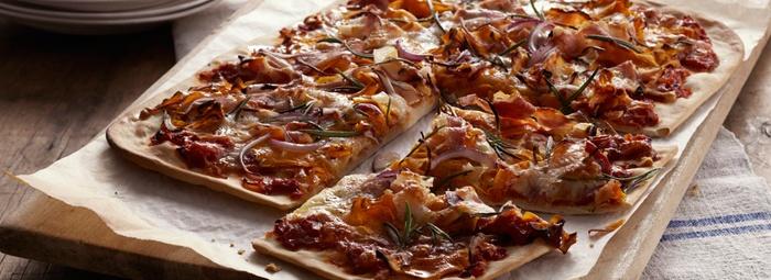 Easy Pizza with Pumpkin, Prosciutto & Rosemary