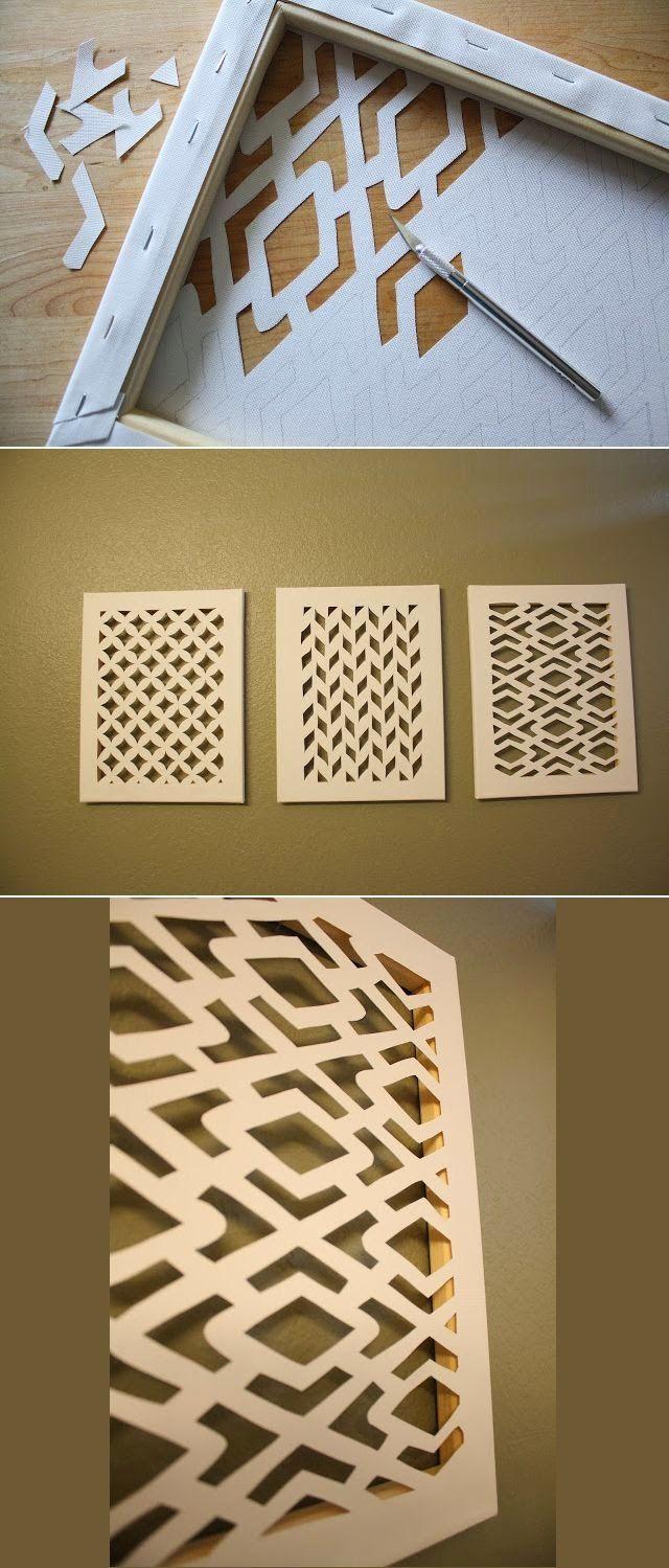 DIY canvas art idea.