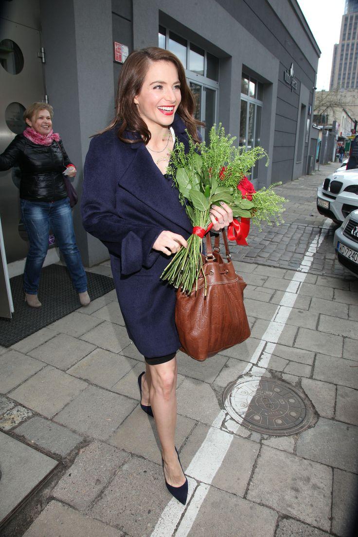 Anna Dereszowska w kurtce ARYTON z kolekcji jesień-zima 2013/2014.
