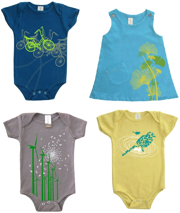 New organic onesies and dresses by Tomat.