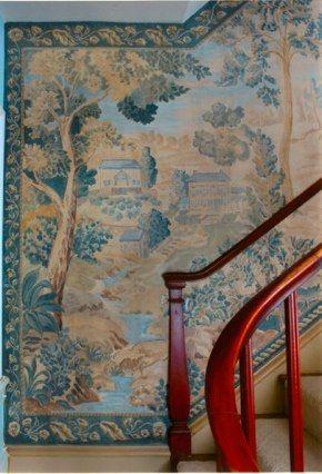 Carol nagel handpainted murals that look like old tapestries interior design wallpapermural wallwall decorpainted
