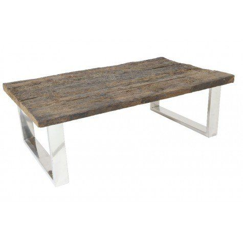 """RAILWAY Side Table w/Steel Legs ,47x30x16""""H - Light & Living"""