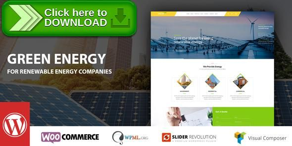 [ThemeForest]Free nulled download Green Energy - For Renewable Energy Company WordPress Theme from http://zippyfile.download/f.php?id=14180 Tags: alternative energy, alternative power, business, eco energy, eco-friendly, ecology, energy, energy saving, environment, environmental, hydropower, renewable energy, solar energy, solar panel, wind power