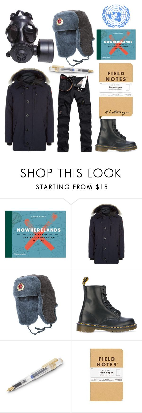 """""""Embassy of Nowherelands"""" by v-sterlingov ❤ liked on Polyvore featuring Canada Goose, GAS Jeans, Dr. Martens, men's fashion and menswear"""