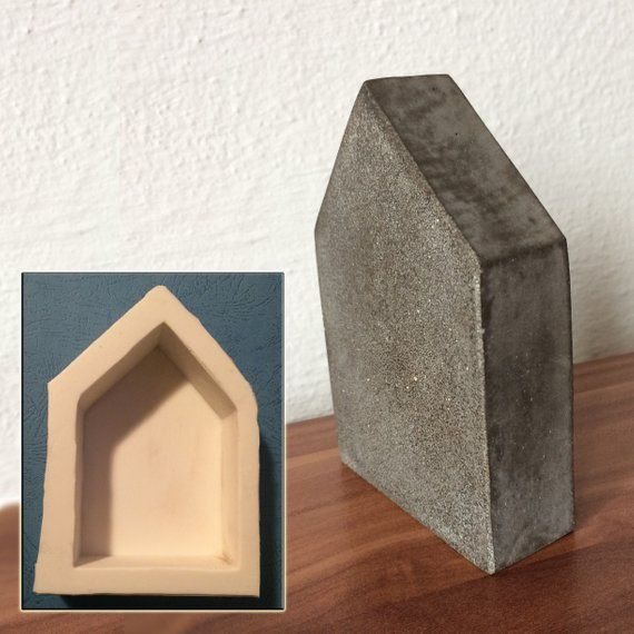 Silicone Mold Of Small House Without Chimney Is Minimalist Decoration Or Bookend Mold For Home Decor The Package House Mold Minimalist Decor Diy Creative