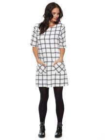 #NewandNow Izabel London Round Neck Check Print Dress product photo