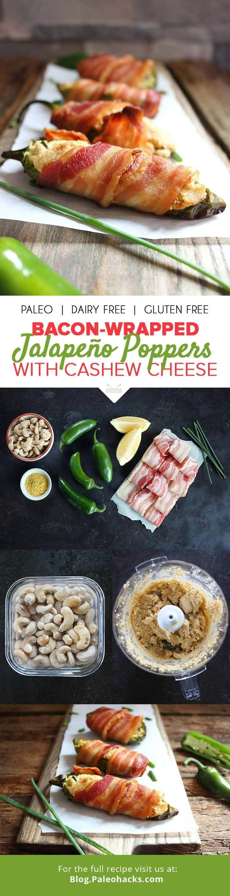 How do you make cheese-stuffed jalapeño poppers better? You wrap it in bacon, that's how. Get the recipe here: http://paleo.co/baconpoppers