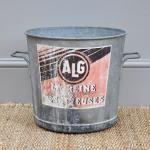 Vintage French Zinc Bucket