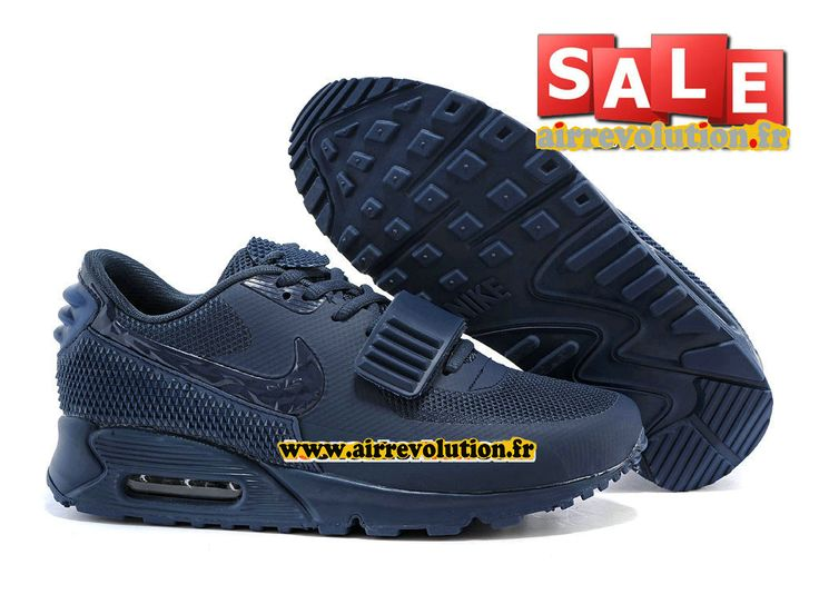 NIKE AIR MAX 90 YEEZY 2 SP (BLKVIS) - CHAUSSURE NIKE SPORTSWEAR PAS CHER POUR HOMME Bleu nuit marine/Bleu nuit marine 508214-605iD