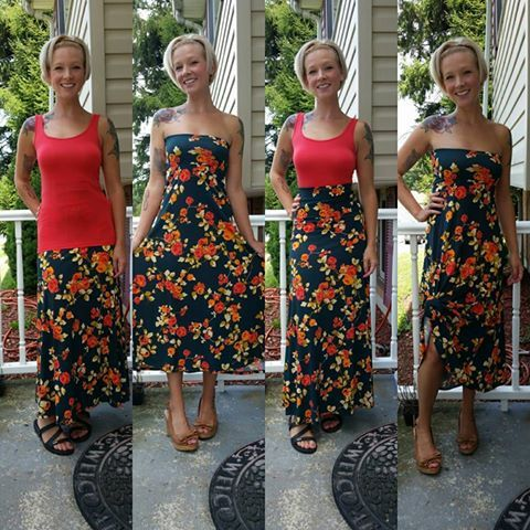 Many ways to wear a maxi!