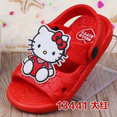 2015 hello kitty ayakkabı kız bebek serin yaz terlik delik delik ayakkabı Toddler bebek ayakkabıları(China (Mainland))