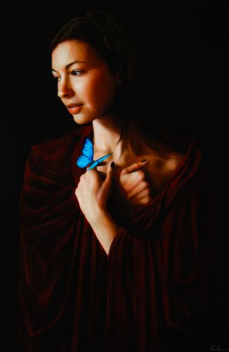 Roi James painting of Chrysta Bell