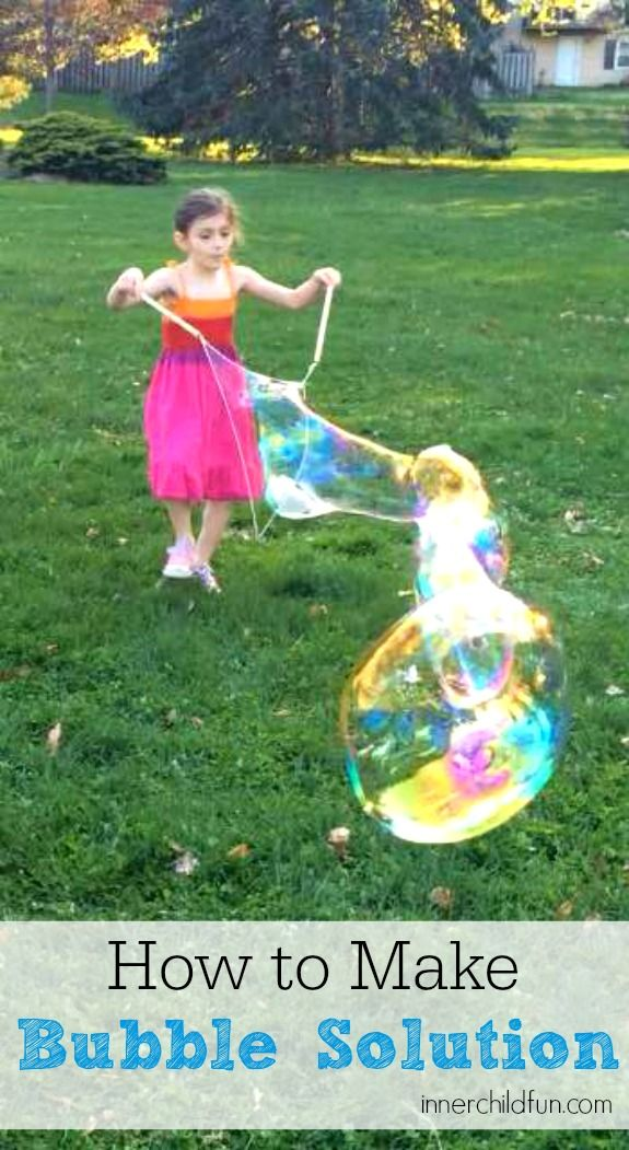 How to Make Bubble Solution for Giant Bubbles - cool!!!