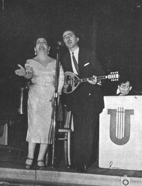 Ο Κώστας Καπλάνης με τη Μαρίκα Νίνου.