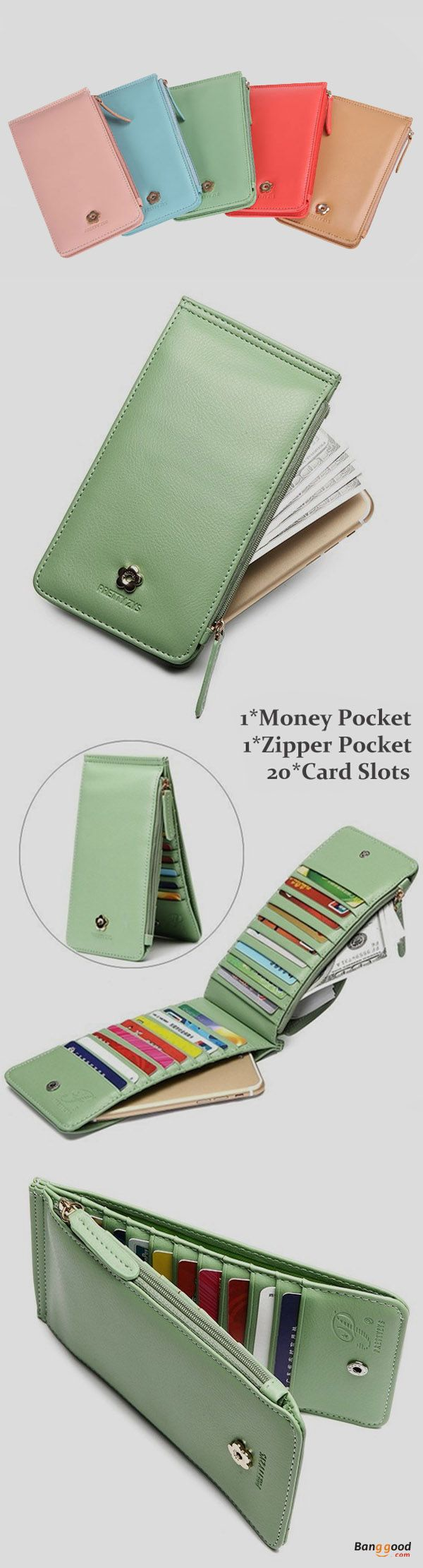US$10.89+Free shipping. Women's Purse, Long Purse, Phone Wallets, Hasp 20 Card Holder. Color: Black, Blue, Beige, Watermelon Red, Pink, Green.