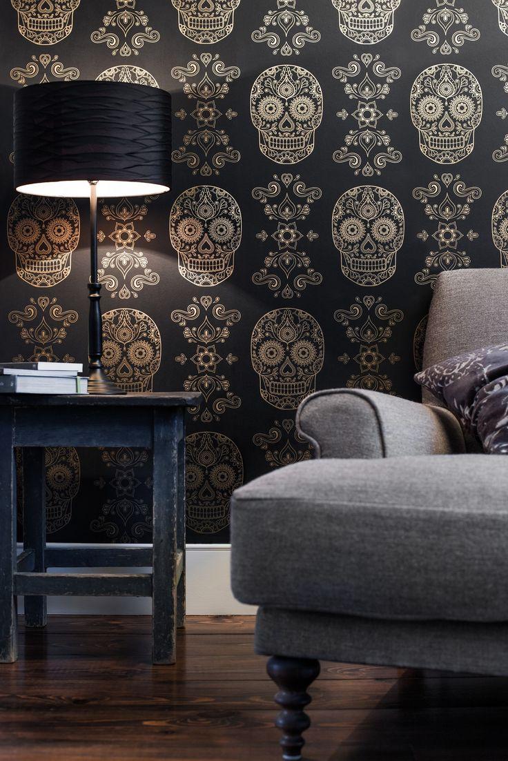 Skull Wallpaper For Bedroom 17 Best Ideas About Sugar Skull Wallpaper On Pinterest Skull