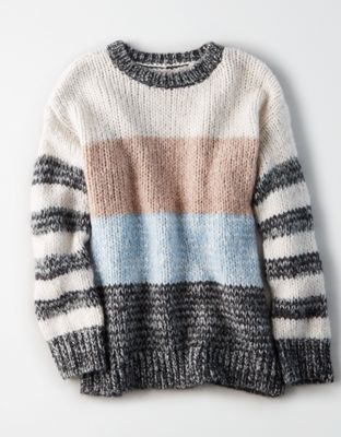 2b82e3c661 AE Rugby Stripe Pullover, Cream | American Eagle Outfitters ...