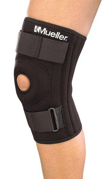 Rodillera Mueller Tubular flejes elásticos, de acero a ambos lados de la rodilla y abertura patelar con refuerzo para proteger y estabilizar la rodilla www.basketspirit.com/accesorios-baloncesto/Medicina-Deportiva