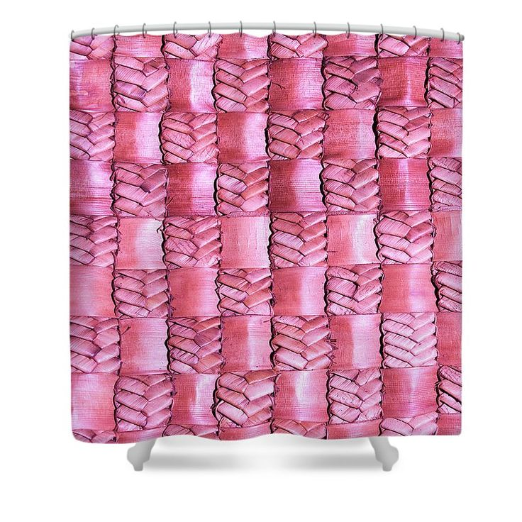 Weaving Shower Curtain featuring the photograph Weaving Flax - Watermelon by Wairua o te Moana