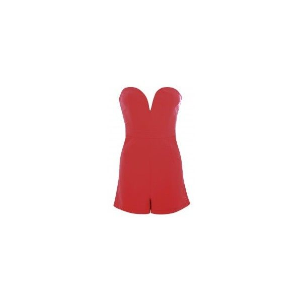 Burgundy Sweetheart Strapless Playsuit ❤ liked on Polyvore featuring jumpsuits, rompers, red romper, burgundy romper, playsuit romper, strapless rompers and sweetheart romper