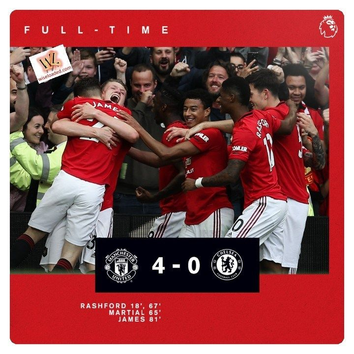 Man Utd Vs Chelsea 4 0 Highlights Video Download Chelsea Manchester United Football Highlight