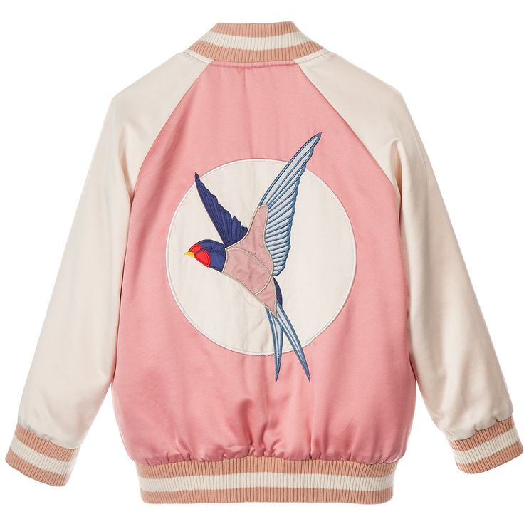 Stella McCartney Kids - Girls Pink 'Willow' Varsity Jacket