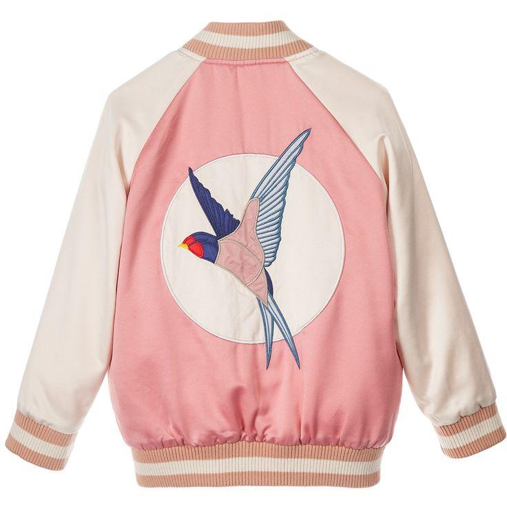 Stella McCartney Kids - Girls Pink 'Willow' Varsity Jacket